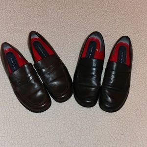 2 Pairs of Tommy Hilfiger Loafers Brown & Black